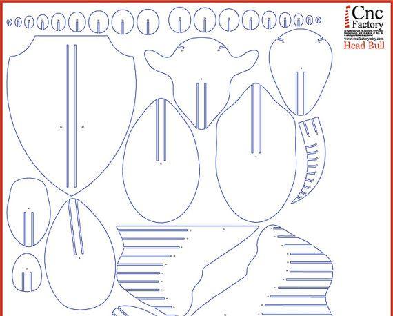 Bull head puzzle skill level beginner size file 1 35 h x 33w x bull head puzzle skill level beginner size file 1 35 h x 33w x 19 l cm materials thickness 18 3mm size file 2 70 h x 66w x 38 l cm maxwellsz