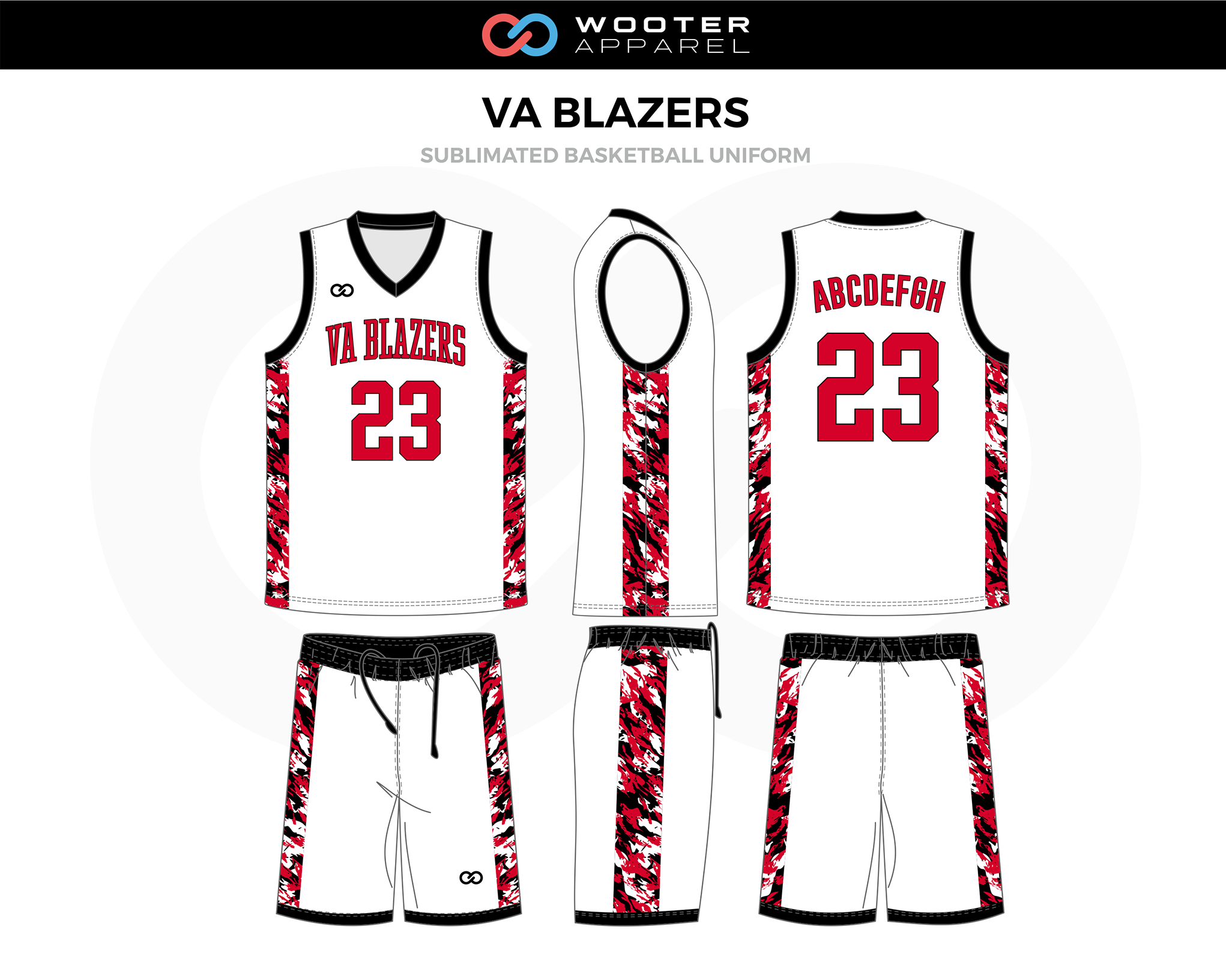 Va Blazers White Red Black Custom Basketball Uniforms Jerseys Shorts In 2020 Basketball Uniforms Design Basketball Uniforms Custom Basketball Uniforms