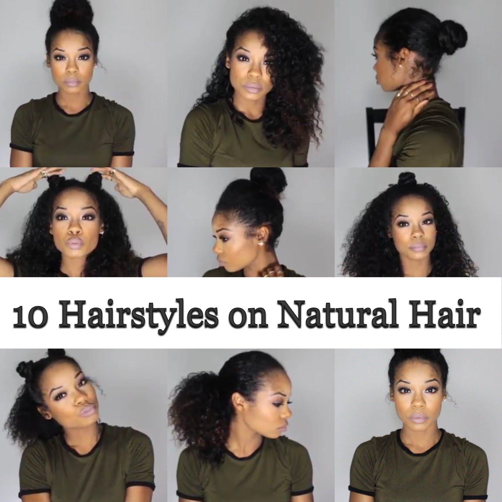 10 Quick And Easy Hairstyles On Natural Hair 3b 3c Natural Hair Styles Easy Natural Hair Styles Curly Hair Styles Naturally