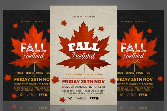 Autumn Fall Flyer @creativework247 Templates - Templates - fall flyer