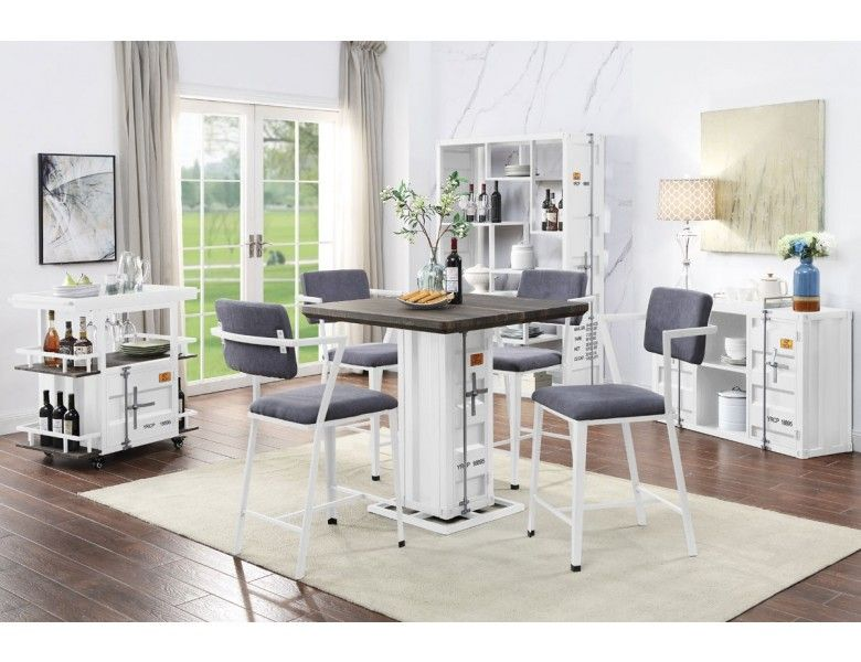 Container Industrial Style Pub Table Set Counter Height Dining Table Set Counter Height Dining Table Counter Height Dining Sets