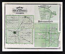 Hartford City Indiana Map.1876 Indiana County Map Blackford With Hartford City Montpelier