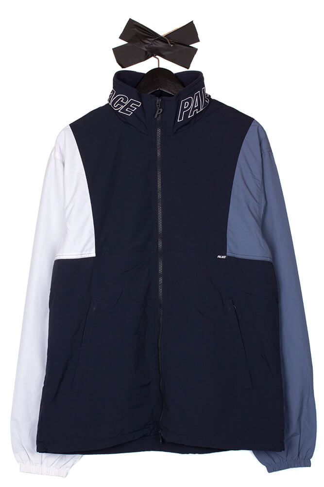 f0e77ad6cb2a Palace - Arms Jacket Blue Nights Flinstone White -  PalaceSkateboards…