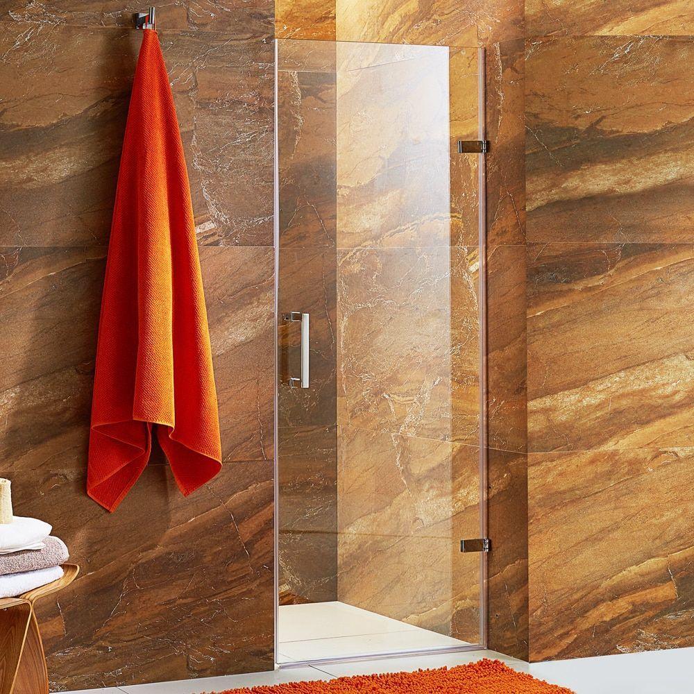 Vigo Soho 24 Inch Adjustable Frameless Shower Door With Clear Glass