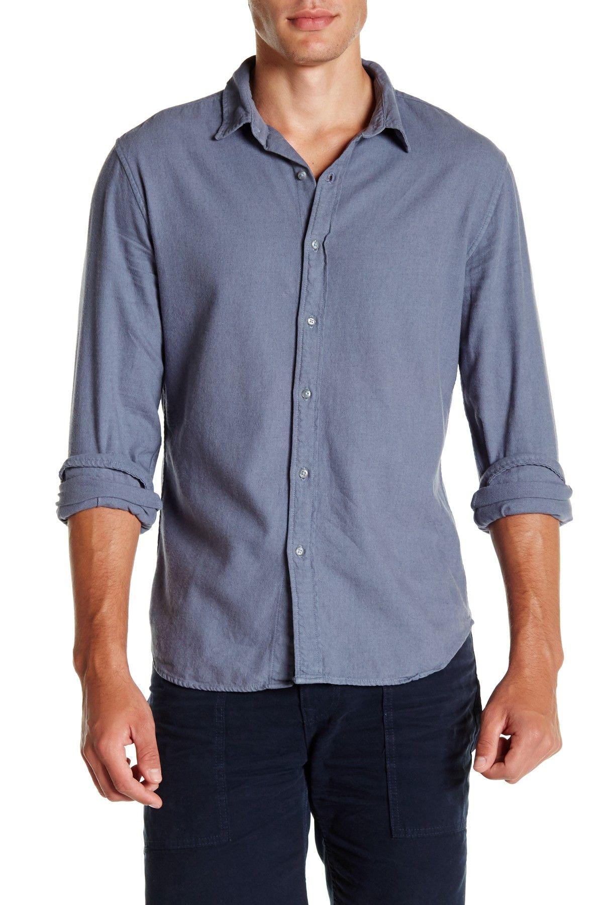Long Sleeve Clean Flannel Shirt