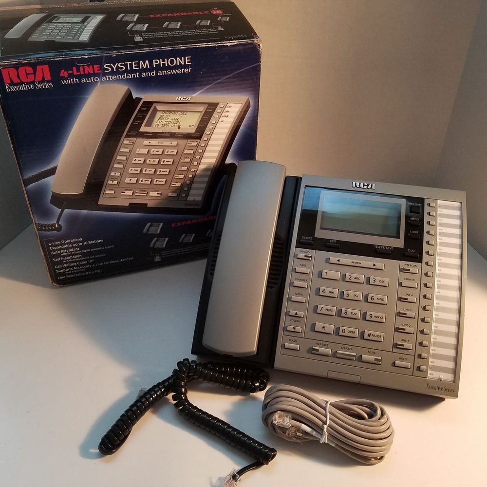 rca 25415 re3 executive series 4 line business system phone needs rh pinterest com
