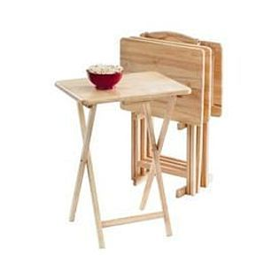 Essential Home 5 Pc Tray Table Set Tray Table Table Portable House