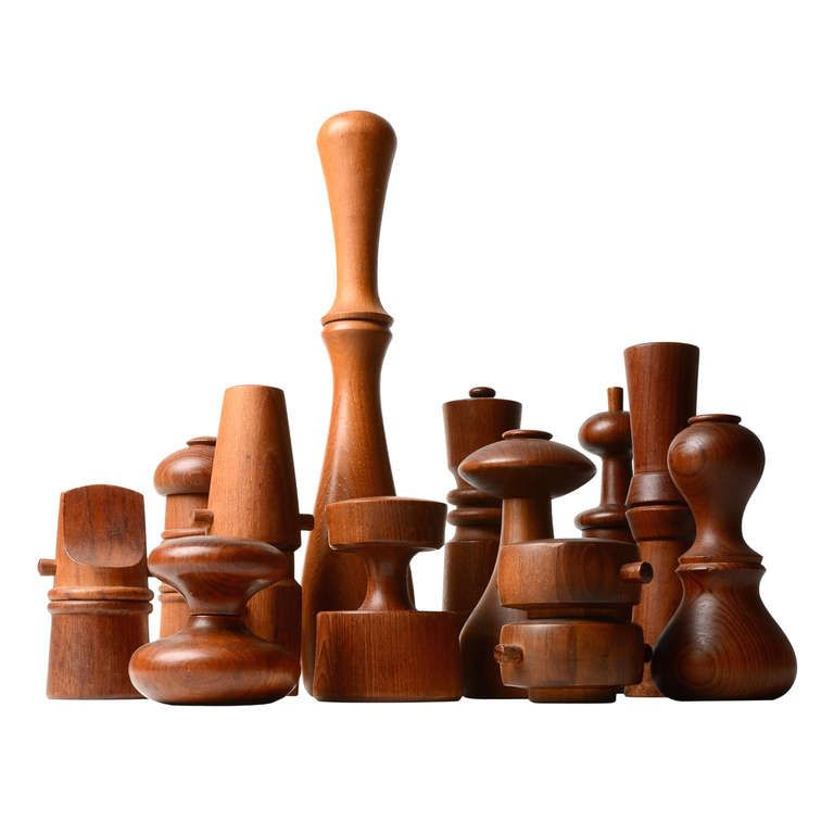Collection of Jens Quistgaard Pepper Mills | From a unique collection of antique and modern decorative objects at http://www.1stdibs.com/furniture/more-furniture-collectibles/decorative-objects/