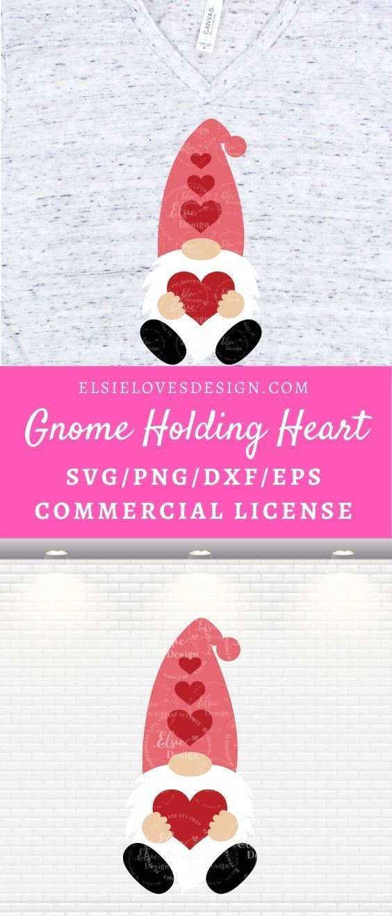 Download Valentine Gnome Svg | Gnome With Heart Svg | Gnome Holding ...