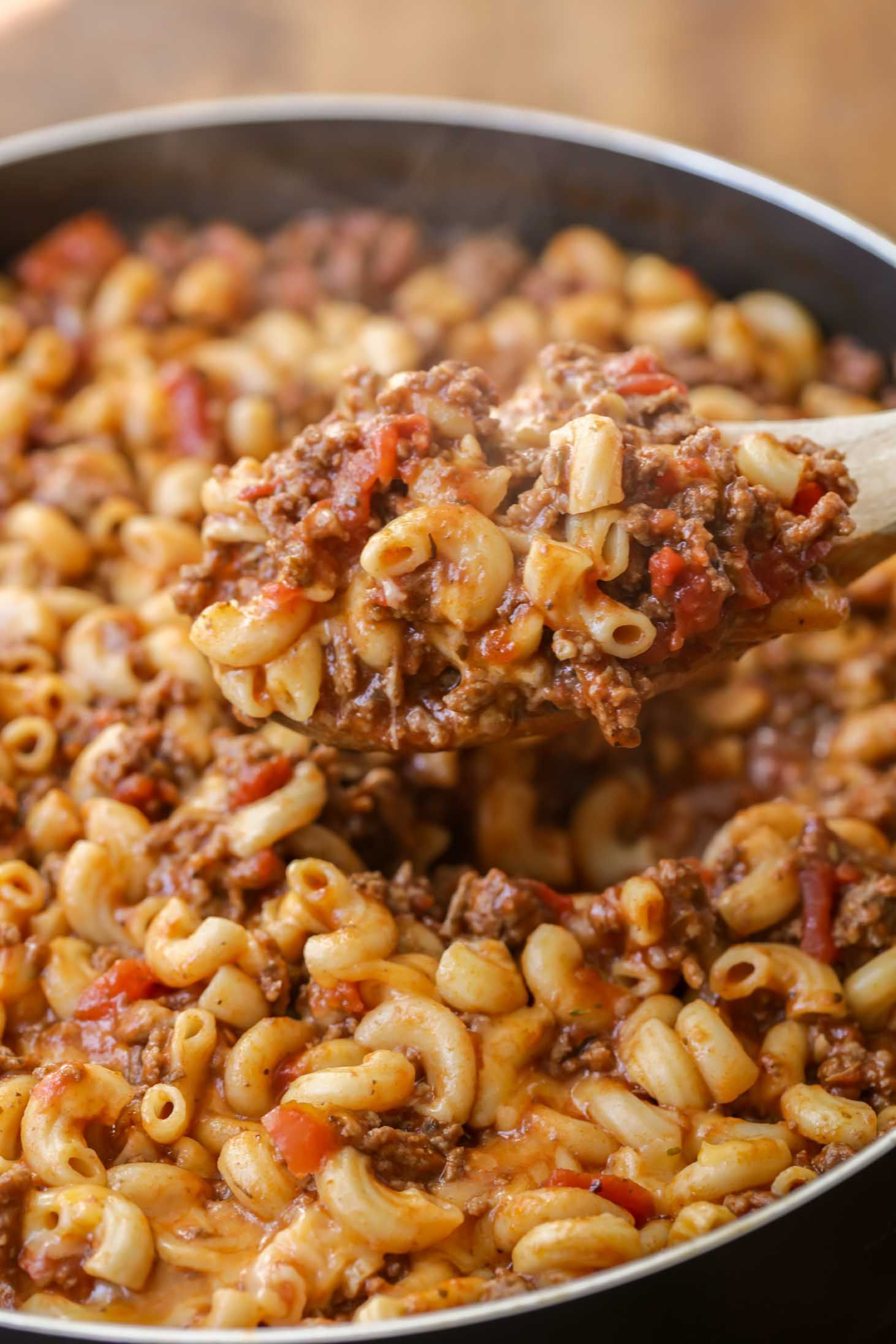 When you need an easy dinner recipe that will please the whole family, try whipping up some old fashioned goulash! Everyone loves this hodgepodge of macaroni noodles, ground beef, tomatoes, cheese, and seasonings!When you need an easy dinner recipe that will please the whole family, try whipping up some old fashioned goulash! Everyone loves th...