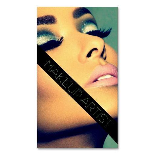 Makeup artist cosmetologist beauty salon business card templates makeup business cards 7600 makeup business card templates reheart Image collections