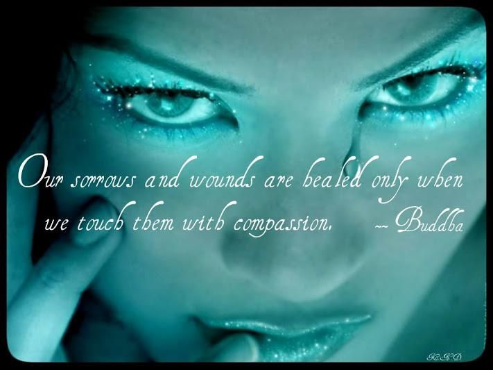 our sorrows and wounds are healed only when we touch them with compassion