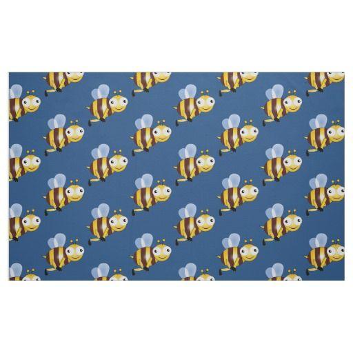 Bee cartoon fabric