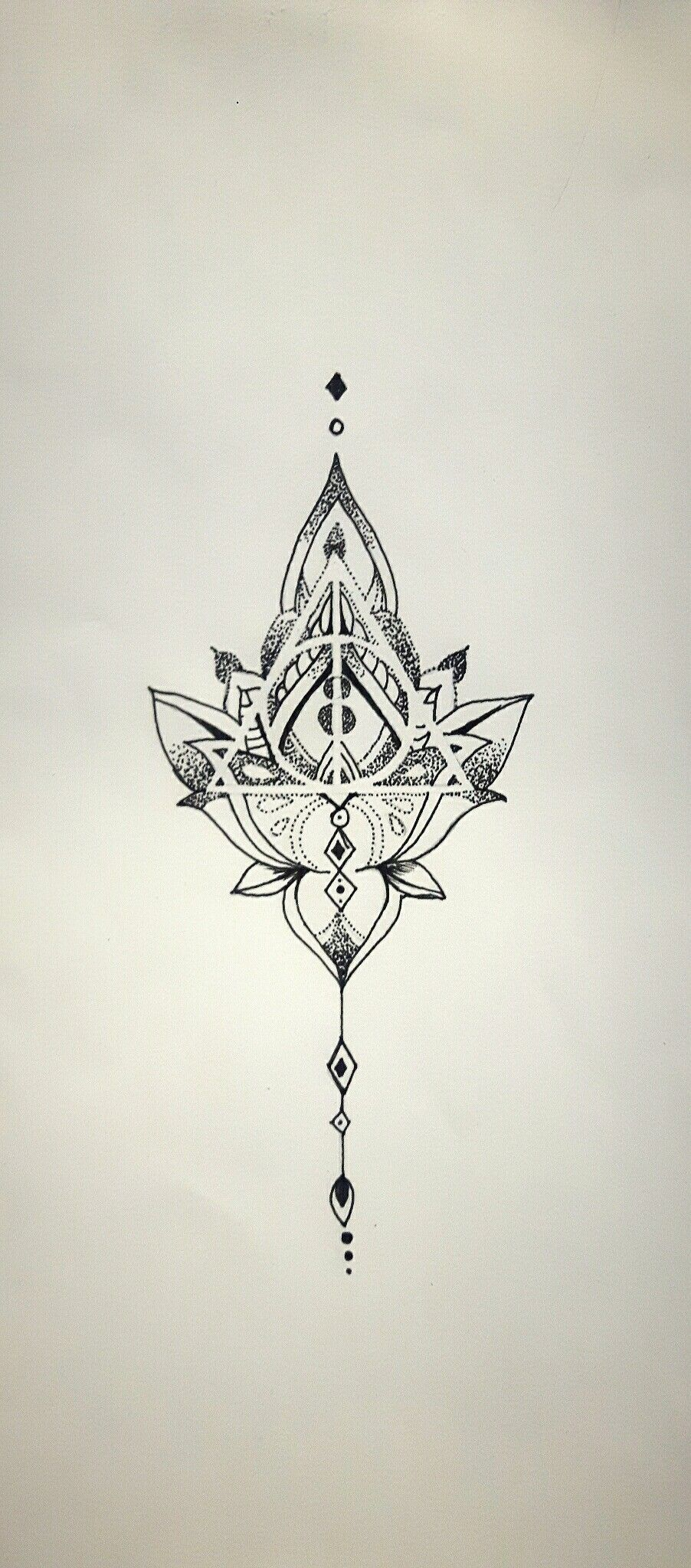 Photo of Mandala Deathly Hallows, tattoo idea. Own design Follow me on Insta @wlmscyn