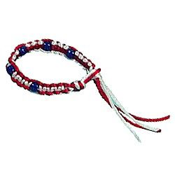 Macrame Patriotic Bracelet Craft