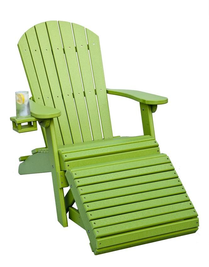 polywood adirondack chairs childrens table amish poly chair with optional folding ottoman decor
