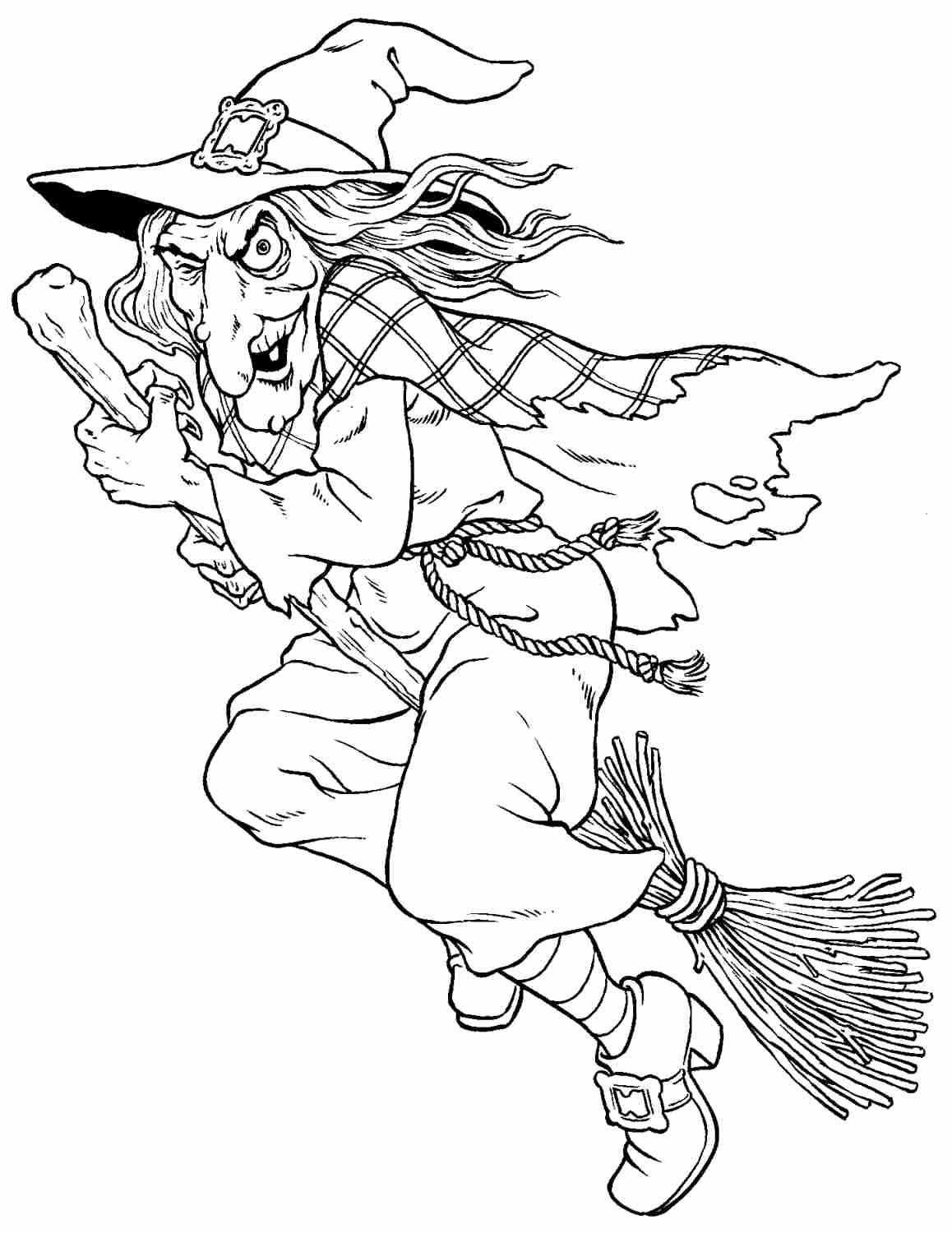 Witch Coloring Pages For Adults Luxury Witches Colouring