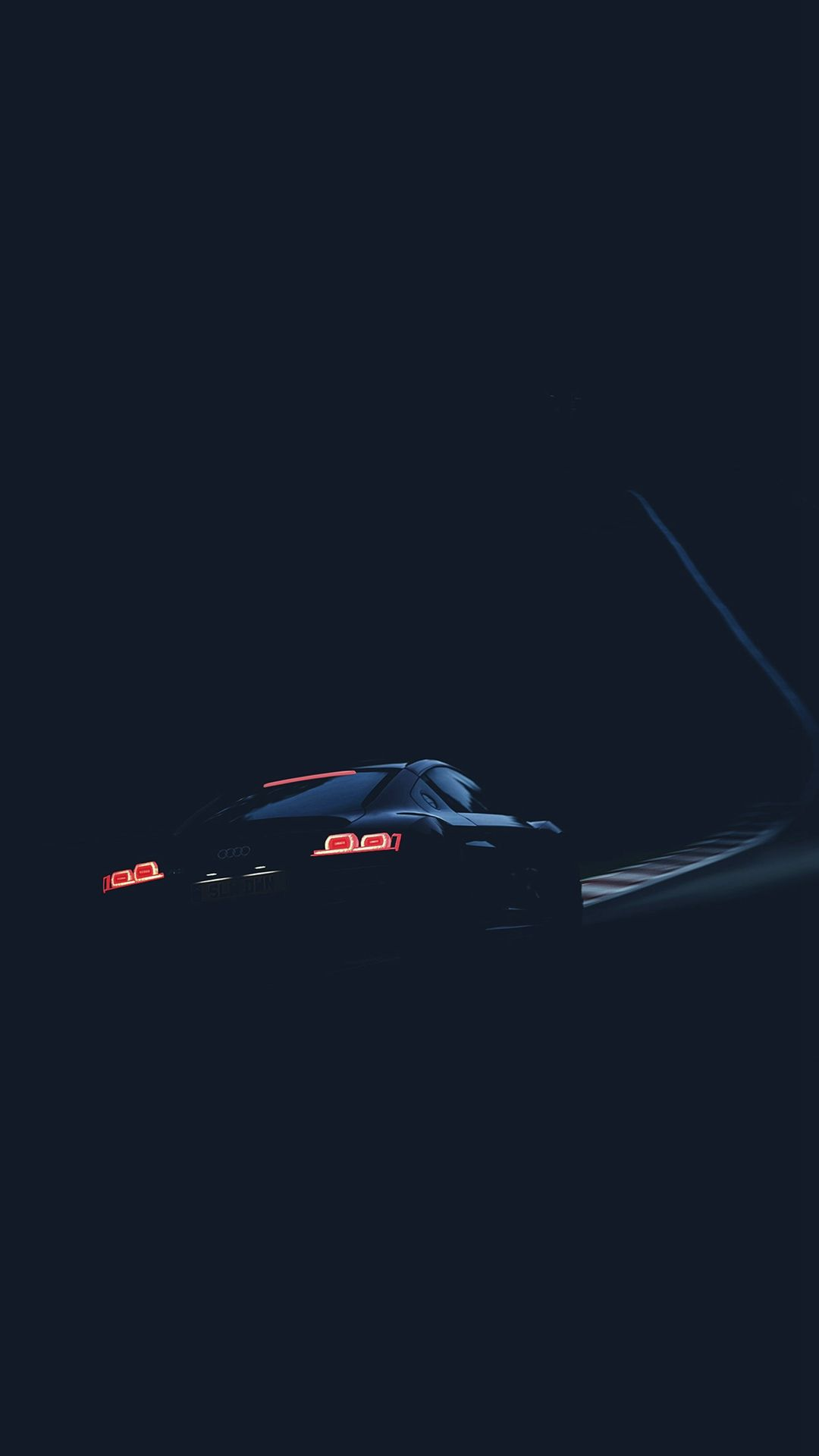 Audi Car Drive Blue Dark Road Street Iphone 6 Plus Wallpaper