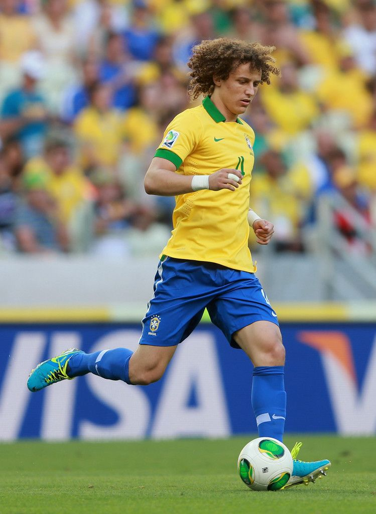 David Luiz. plays for Chelsea in the Premier League and as vice-captain for the Brazil national team. Primarily a central defender, but do also play as defensive midfielder ocationally.