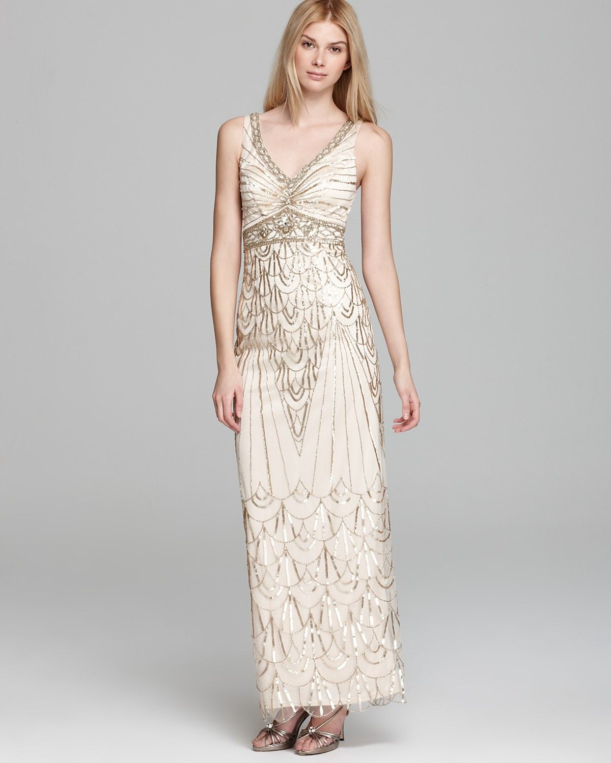Sue Wong Gown - V Neck Beaded | Bloomingdales | Wedding | Pinterest ...