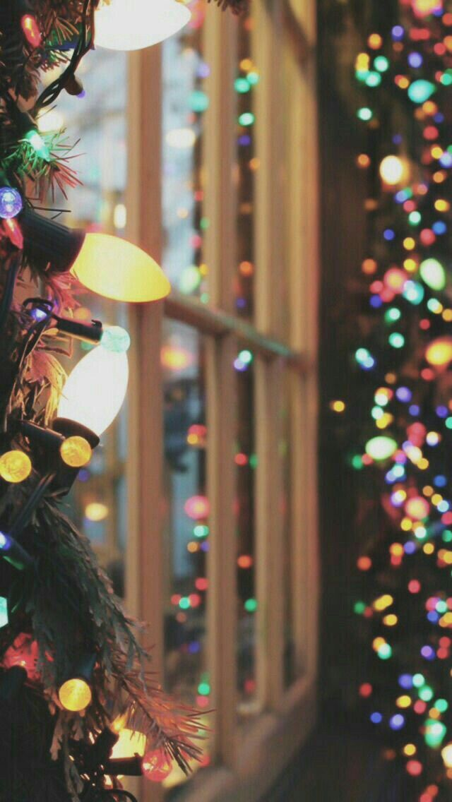 Navidad #Fondo #Luces #Color Christmas Wallpapers Pinterest - Luces De Navidad