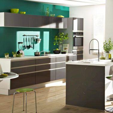 Couleurs de peinture tendance pour la cuisine couleur for Peinture verte cuisine