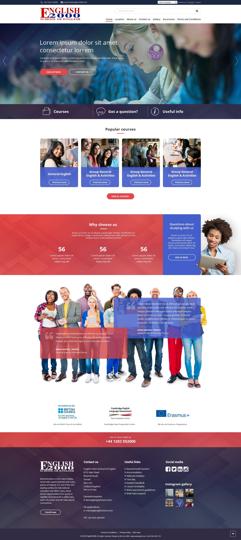 Prototype For A Local Language School School Website Language School School Website Templates