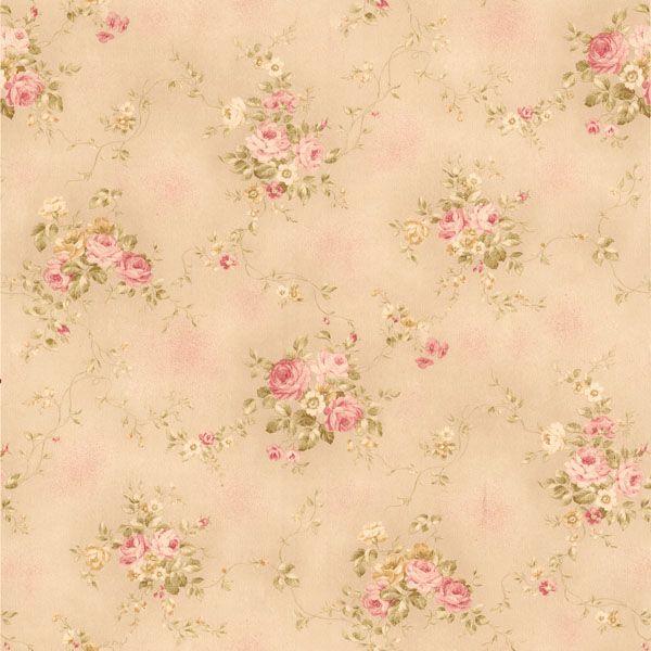 436-66405 Pink Rose Bouquet - Carolina - Brewster Wallpaper