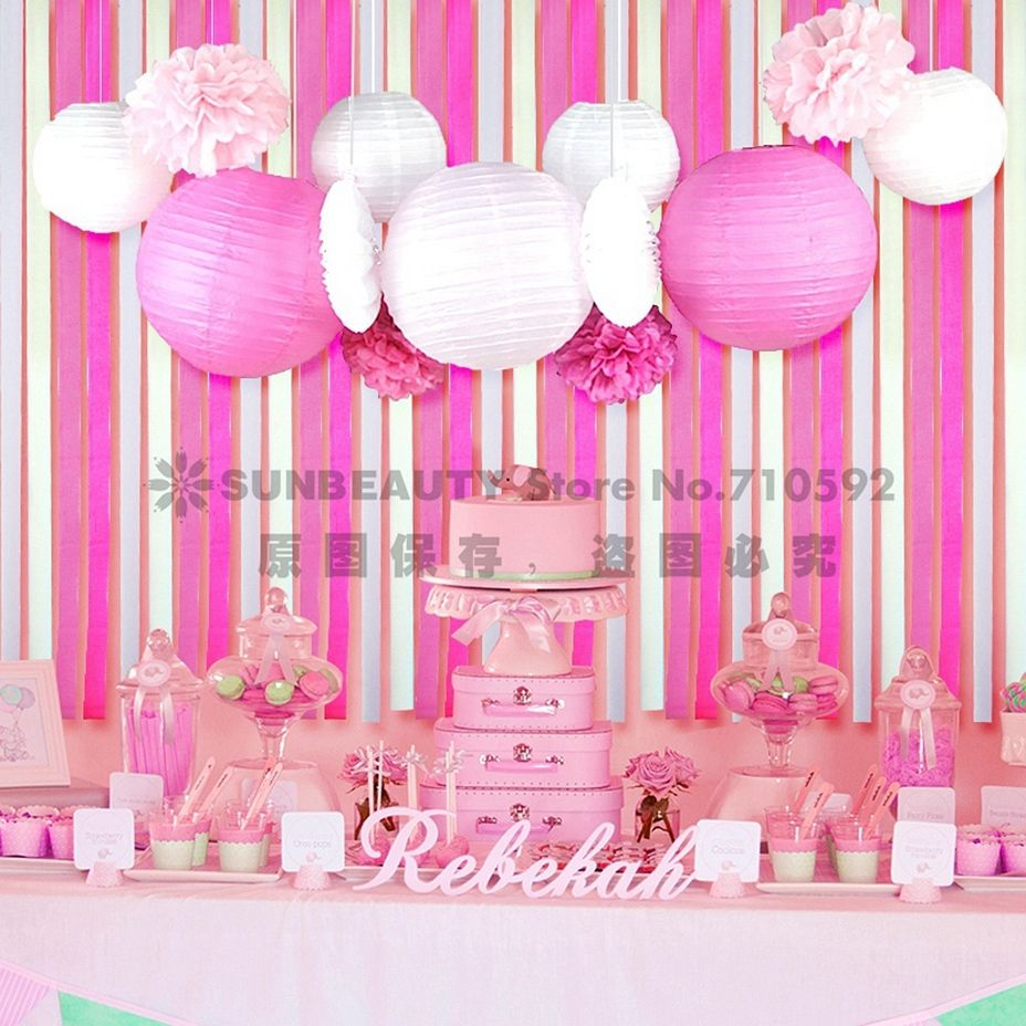Find More Party DIY Decorations Information about 13x Pink Princess