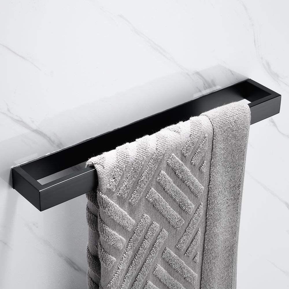 Melairy 40cm 16inch 304 Stainless Steel Towel Rail Self Adhesive Brush Finish Bathroom Towel Bar Rack To Bathroom Towel Bar Stainless Steel Towel Rail Bathroom