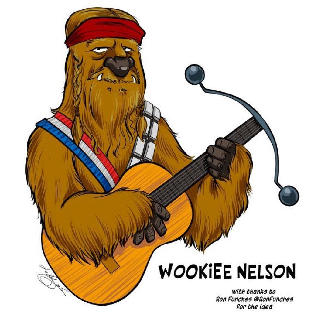 """ronfunch: """"Thanks @Lartist for making my Wookiee Nelson dream come true!"""""""