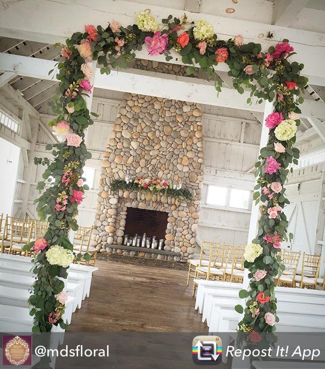 A lovely pop of color in this floral arbor in the Boat House Chapel at Bonnet Island Estate, NJ Repost from @mdsfloral using @RepostRegramApp - #weddingsofdistinctionnj #weddingsofdistinction #lbi #lbiflorist #lbiwedding #bonnetislandestate #ceromony #flower #estatewedding #boathousechapel #coastalwedding #waterfrontwedding #floralarbor