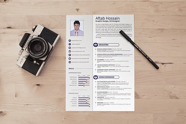 Free 2 Page Resume Template Design Photography 53 Pinterest