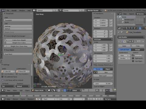 Tissue - Advanced Tessellations (Blender's Add-on) - YouTube