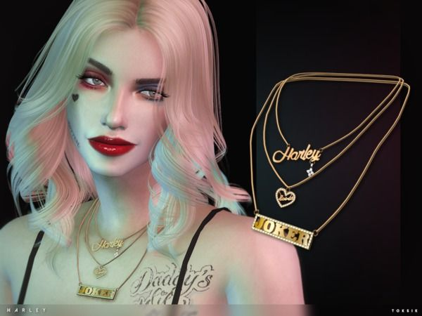 the sims resource harley necklace by toksik sims 4 downloads