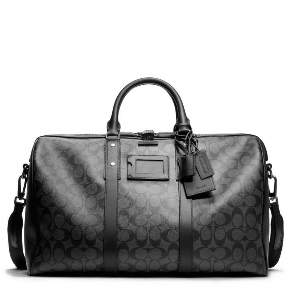 The Bleecker Signature Monogram Duffle From Coach I Want Some Luggage