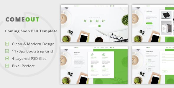 awesome ComeOut – Coming Quickly PSD Template (Corporate)