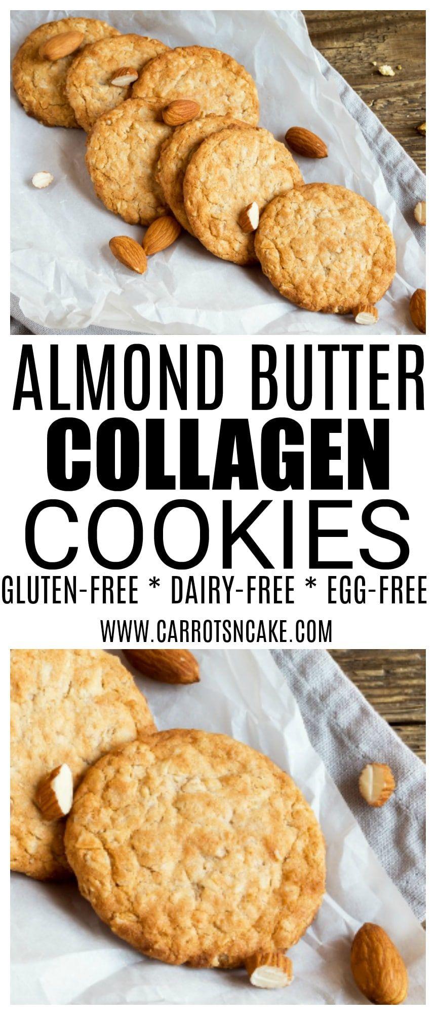 Almond Butter Collagen Cookies Recipe Collagen Recipes Almond