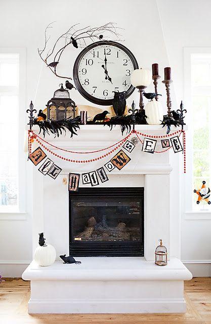 halloween mantle decor Seasonal Pinterest Mantle