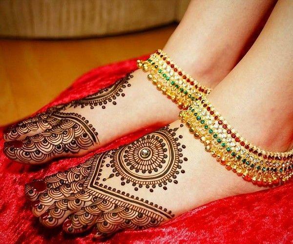 arabic mehndi designs for legs easy