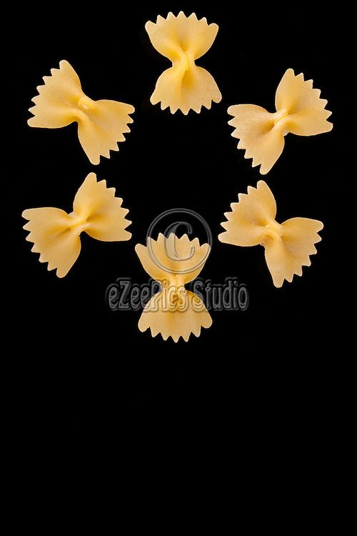 ecca202a5 Stock photo  3  Pasta Varieties - Cute shape made with farfalle ...