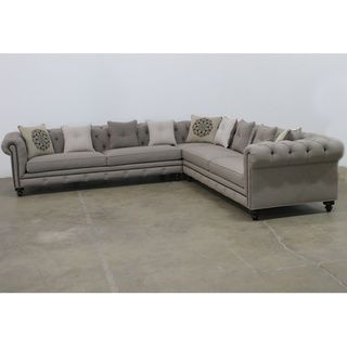 Jar Design Alphonse Grey Tufted Sectional Home Home