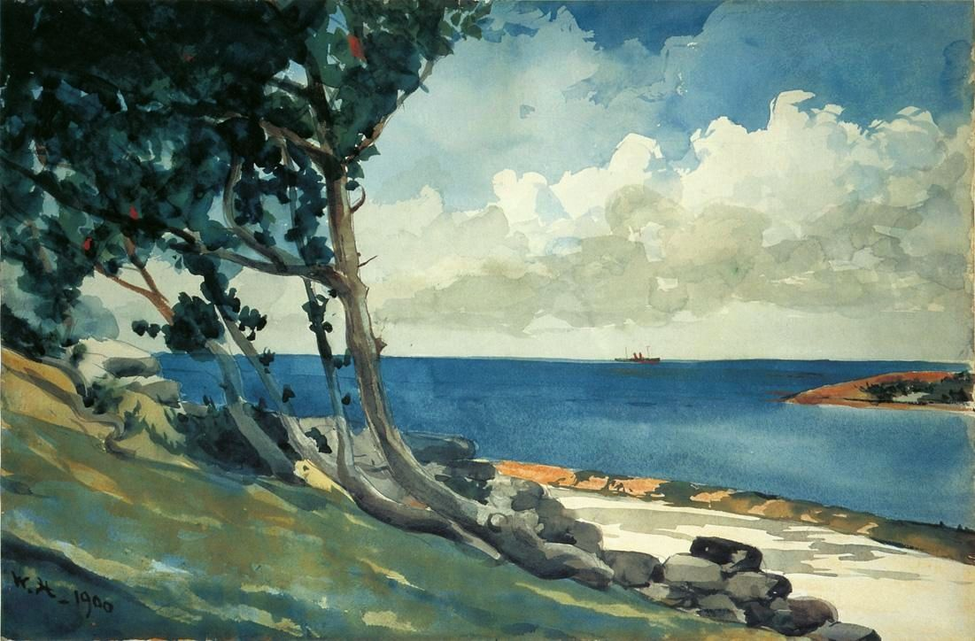 Winslow Homer Watercolor Reproductions Shore and Surf Fine Art Print Bermuda