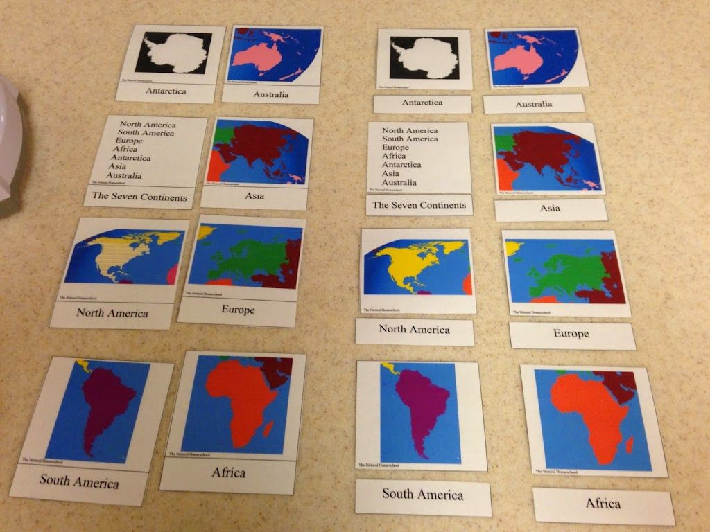 Continent Stu S With Preschoolers Continent Printable 3