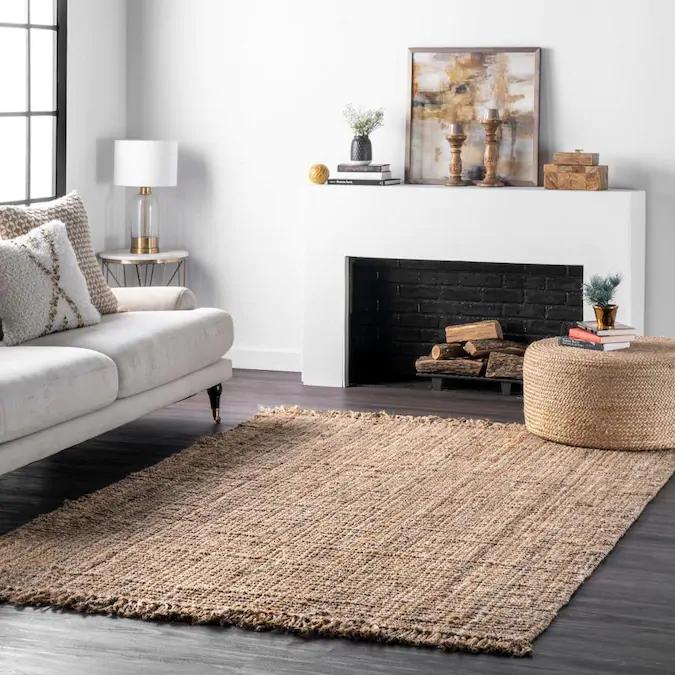 Nuloom Natura 4 X 6 Tan Indoor Solid Area Rug Lowes Com In 2020 Rugs Area Rugs Jute Rug #tan #living #room #rug