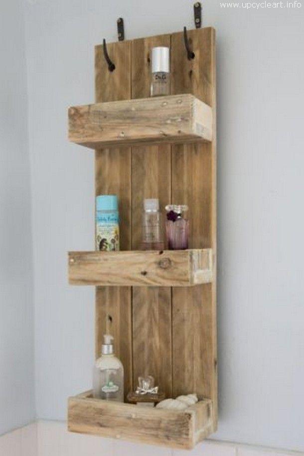 50 Diy Pallet Ideas Rustic Bathroom Shelves Bathroom Wood