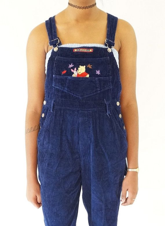 d78e38ef397 Winnie the Pooh Early 90s Corduroy Overalls Vintage by ACTUALTEEN
