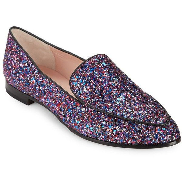 8a95cbe9626 Kate Spade New York Calliope Glitter Loafers ( 250) ❤ liked on Polyvore  featuring shoes
