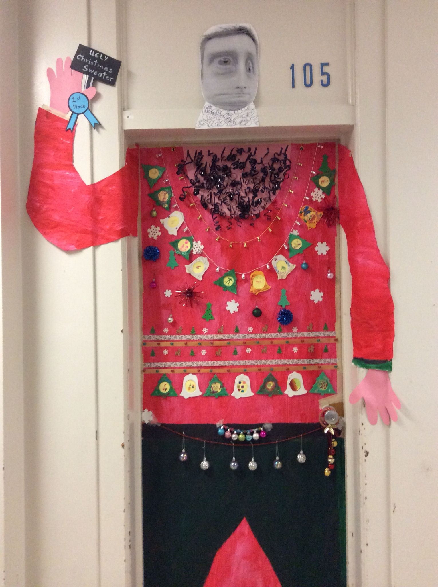 ugly sweater door more