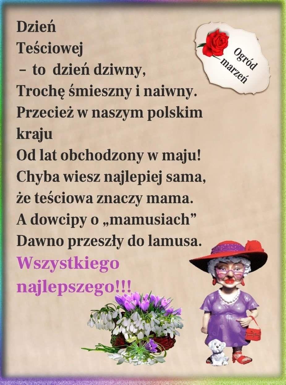 Pin By Wanda Swoboda On Dzien Tesciowej In 2020 Smieszne Dowcipy